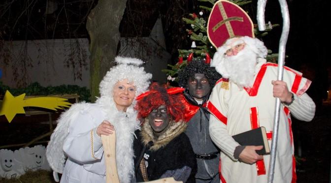 Mikuláš, čert aanděl (Vánoční odpoledne ukapličky), 7.prosince 2013