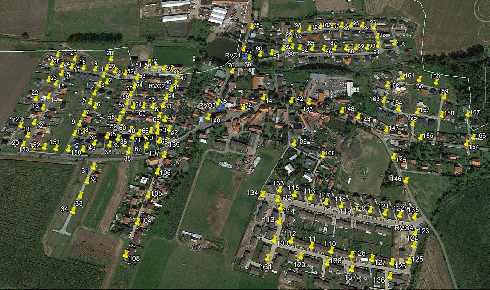Mapa veřejného osvětlení k 17.12.2014