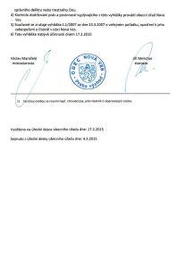 Obecně závazná vyhláška obce Nová Ves č. 2 2015 06